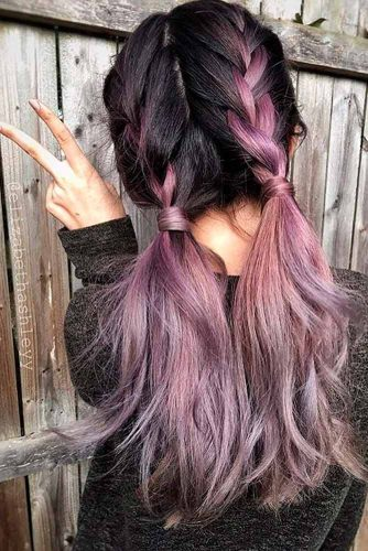 Cute Balayage Purple Hair picture 1