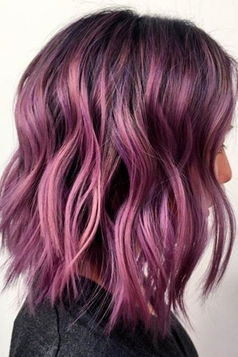 Cute Balayage Purple Hair picture 3