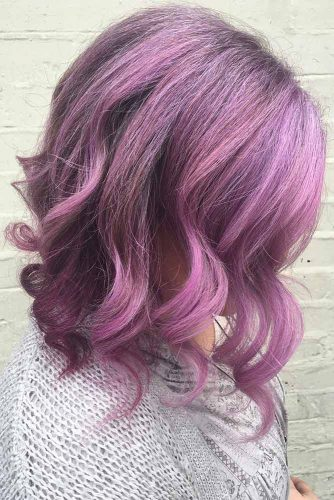 Purple Balayage with Loose Curls picture3