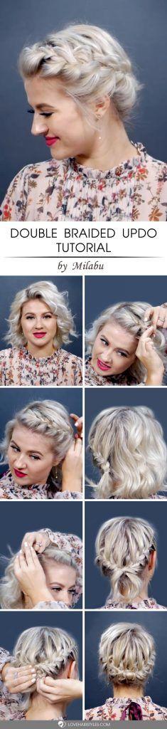 Double Braided Updo Tutorial #updo #braids #hairtutorial