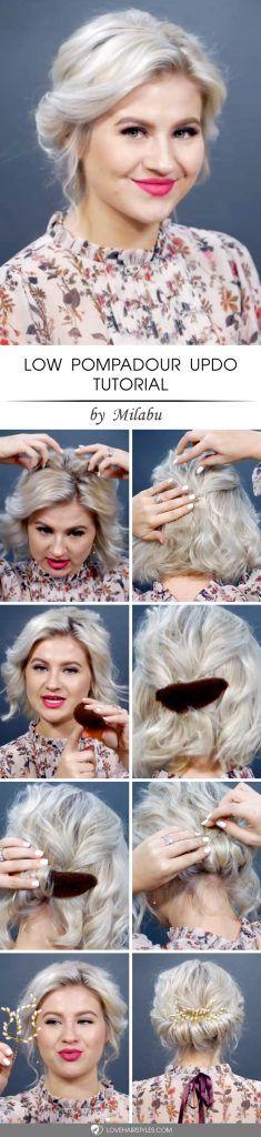 Low Pompadour Updo Tutorial #updo #hairtutorial