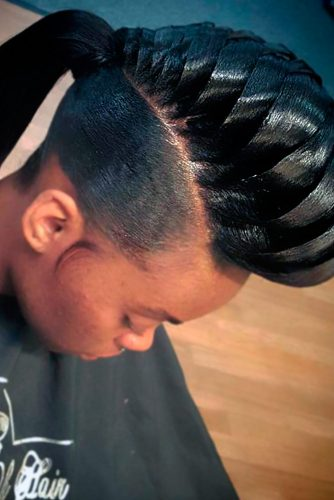 Fancy Fishtail Natural Hair Mohawk