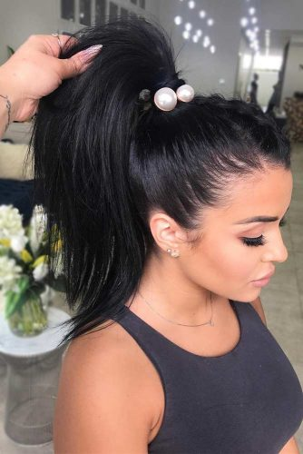 Ponytail Hairstyles Best Choice for a Party picture1