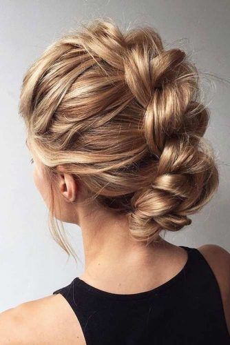 Stunning Prom Updos For Blonde Hair Faux Hawk #updohairstyles #longhair #promhairstyles #promhair #hairstyles
