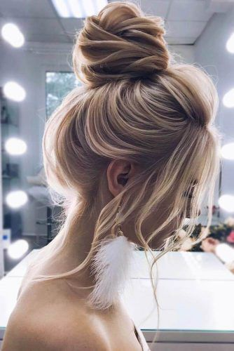 Simple Blonde High Buns #updo #buns