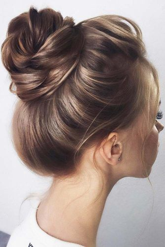Simple High Brown Buns #updo #buns