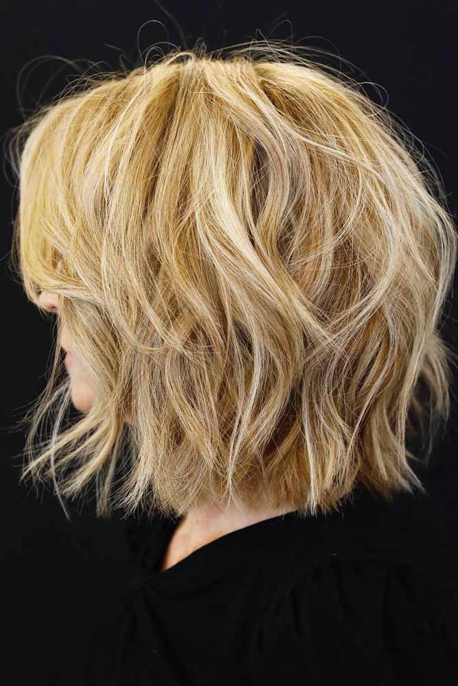 Finely Chopped Tousled Layered Bob #layeredbobhairstyles #layeredbob #hairstyles #haircuts #mediumbob