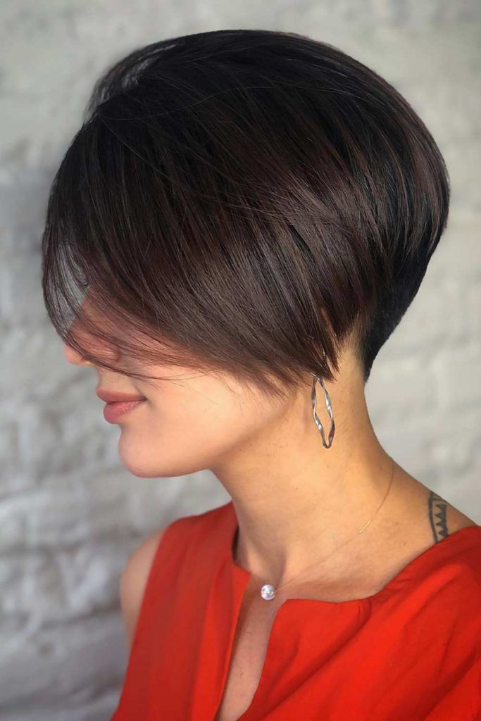 Smooth, but Edgy #bob #layeredhair