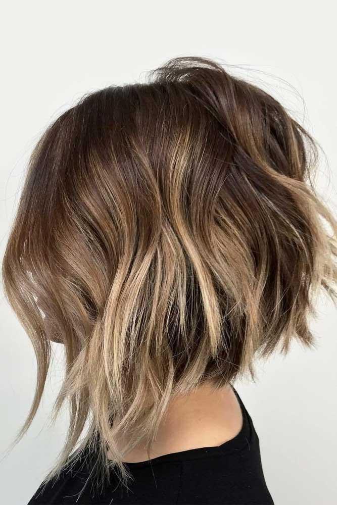 Inverted Layered Bob #layeredbobhairstyles #layeredbob #hairstyles #haircuts #longbob