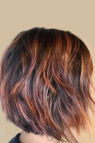 Jagged Edged Layered Bob #layeredbobhairstyles #layeredbob #hairstyles #haircuts #longbob