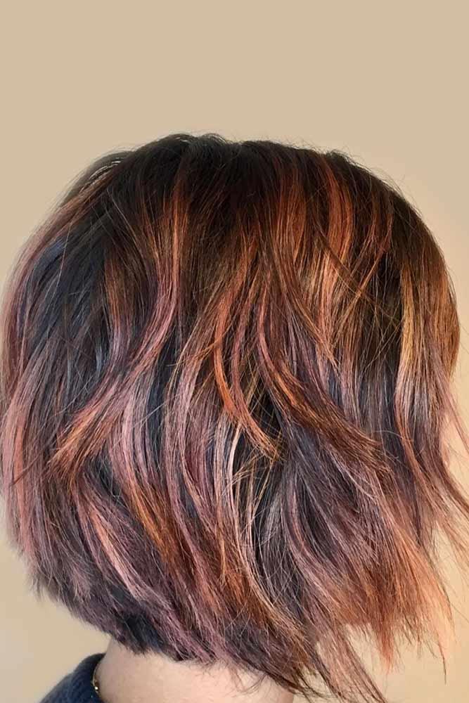 Jagged Edged Layered Bob #layeredbobhairstyles #layeredbob #hairstyles #haircuts #longbob