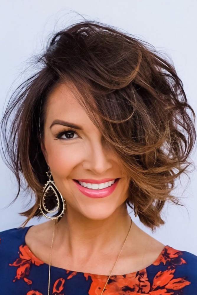 Brown Bob With Jagged Ends