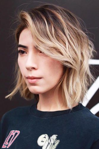 Bronde Bob With Long Feathered Layers #bob #layeredhair