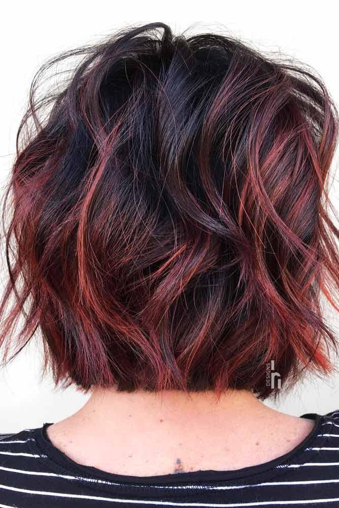 Medium Messy Bob #layeredbobhairstyles #layeredbob #hairstyles #haircuts