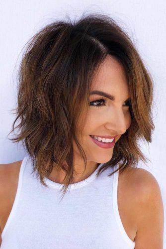 Messy Layered Lob #layeredbobhairstyles #layeredbob #hairstyles #haircuts
