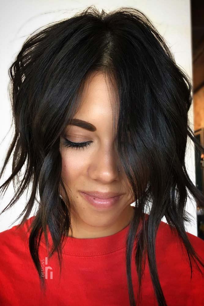 Asymmetrical Layered Bobs #layeredbobhairstyles #layeredbob #hairstyles #haircuts #longbob
