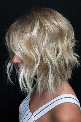 Wavy Lob For Thin Hair #layeredbobhairstyles #layeredbob #hairstyles #haircuts