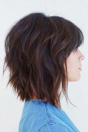 Shaggy Layered Bob #layeredbobhairstyles #layeredbob #hairstyles #haircuts #longbob
