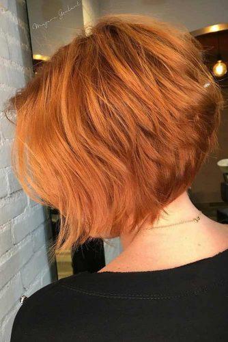 Short Layered A line Bob #layeredbobhairstyles #layeredbob #hairstyles #haircuts