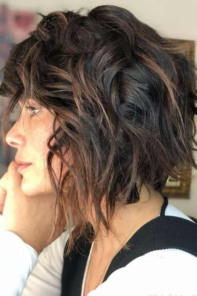 Long Stacked Bob With Layers #layeredbobhairstyles #layeredbob #hairstyles #haircuts