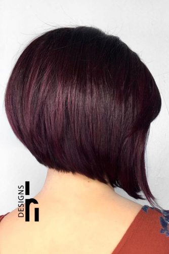 Vampy Layered Bob Hairstyles