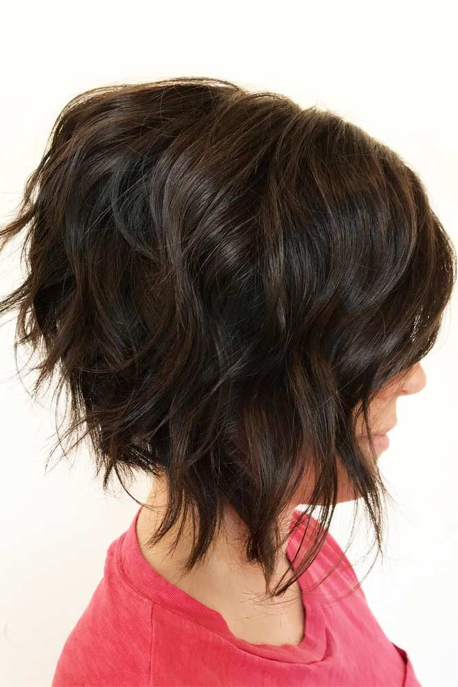 Layered Bob With Disconnected Ends #layeredbobhairstyles #layeredbob #hairstyles #haircuts #mediumbob