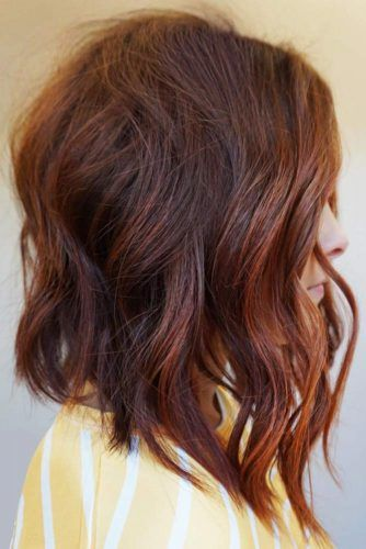 Beachy Waves Styling Red #mediumhair