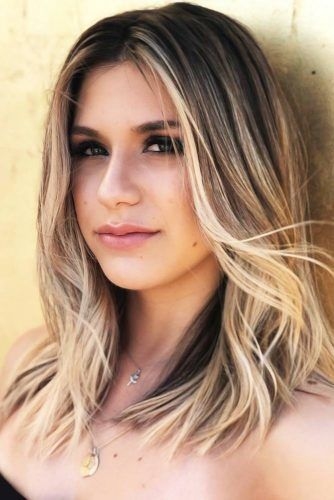 Medium Hairstyles For Brunette Girls Ombre #mediumhair