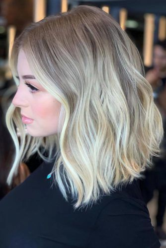 Medium Hairstyles For Brunette Girls Balayage #mediumhair