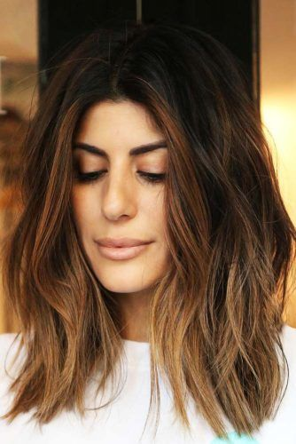 Medium Hairstyles For Brunette Girls Brown #mediumhair