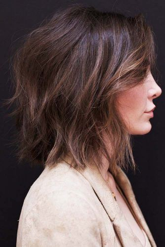 Messy Feathered Medium Style #mediumhair #bob #messyhair