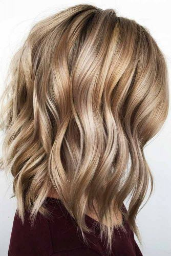 Caramel Beachy Waves Styling #mediumhair #bob