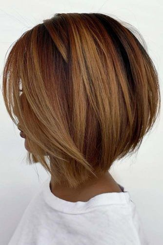 Copper Balayage With Soft Texture #mediumbob #mediumbobhaircuts #haircuts #bobhaircuts