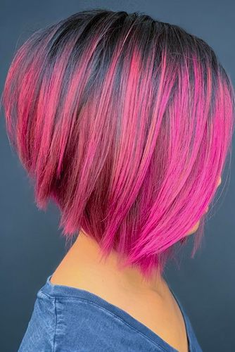 Inverted Medium Bob Haircuts