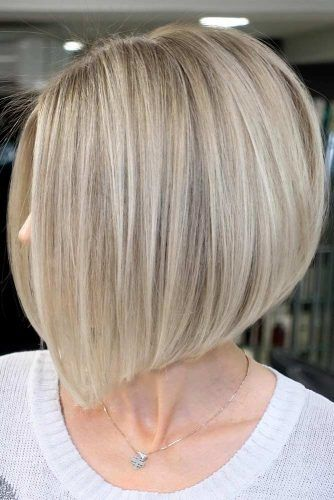 Side Parted Straight Bob Haircut #mediumbob #mediumbobhaircuts #haircuts #bobhaircuts