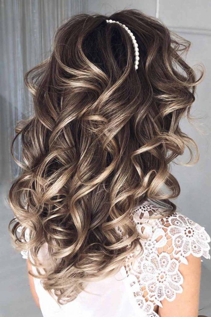 Free Curls Headband #bridesmaidhair #bridesmaidhair styles