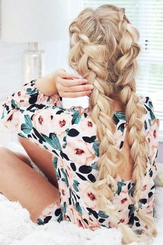 Cute Double Dutch Braids for Blonde Hair picture 2