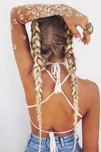 Cute Double Dutch Braids for Blonde Hair picture 3