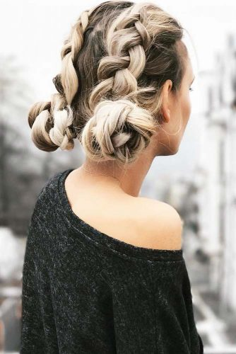 Low Buns with Double Dutch Braids picture2