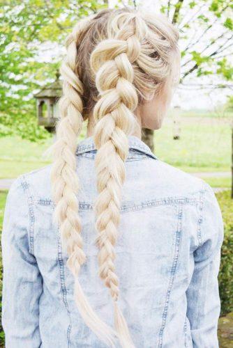 Cute Double Dutch Braids for Blonde Hair picture 2