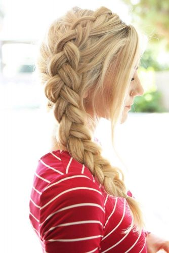 Cute Double Dutch Braids for Blonde Hair picture 1