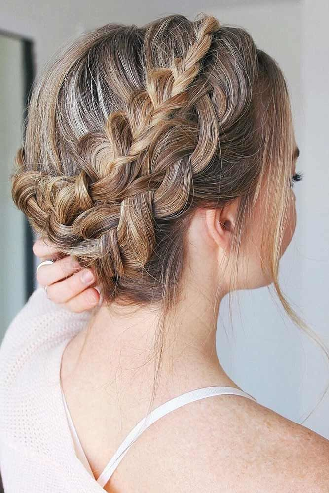 Combo Double Dutch Braids Hairstyles Updo #braids #dutchbraids