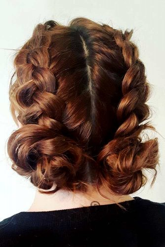 Low Buns with Double Dutch Braids picture 2