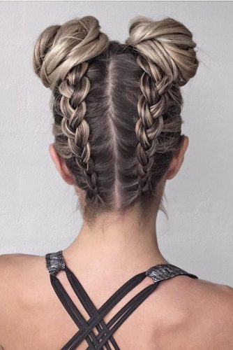 Top Knots with Double Dutch Braids picture 1
