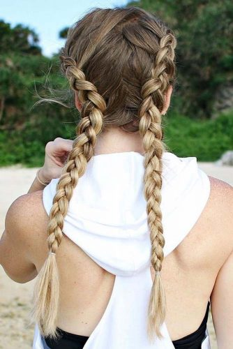 Gym-Friendly Double Dutch Braids picture 3