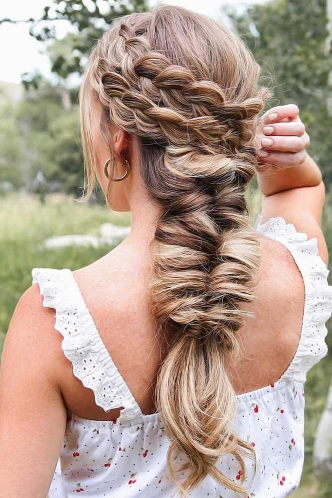 Combo Double Dutch Braids Hairstyles Topsy Tail #braids #dutchbraids