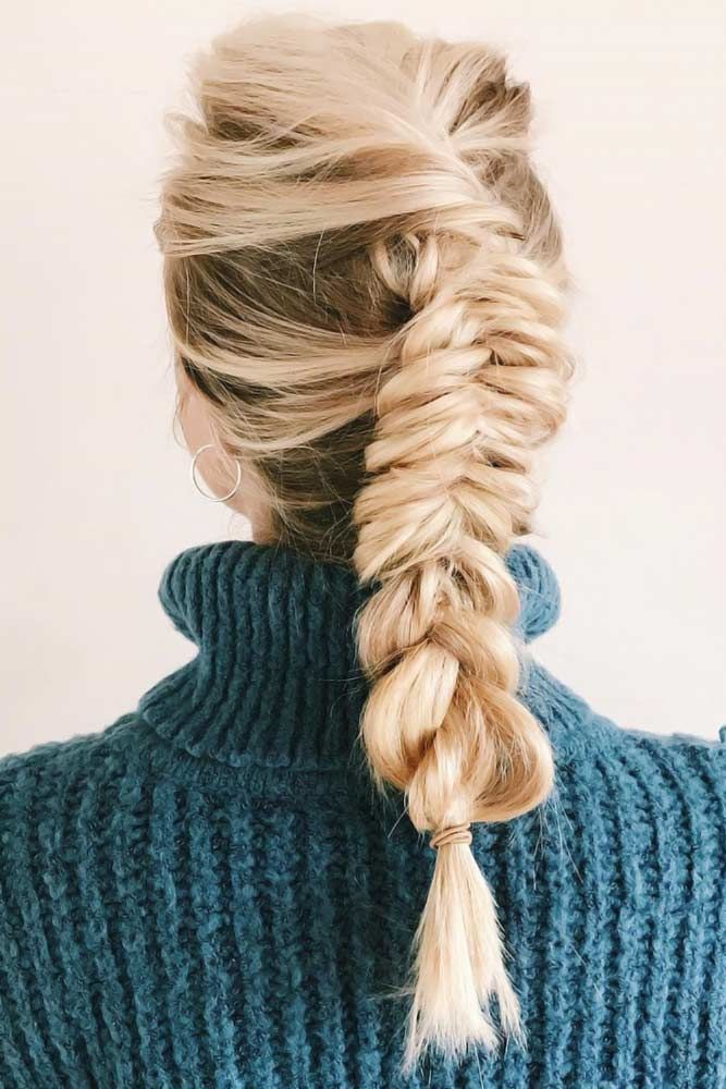 Dutch Fishtail Braid Blonde #braids #dutchbraids