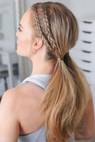 Double Dutch Braids & Ponytails Front #braids #dutchbraids