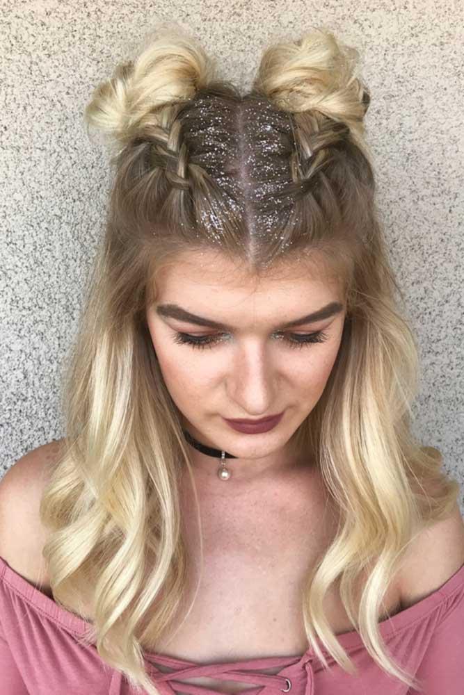 Top Knots with Double Dutch Braids picture2