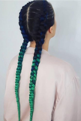 Ombre Kanekalon as a Party Hairstyle picture2